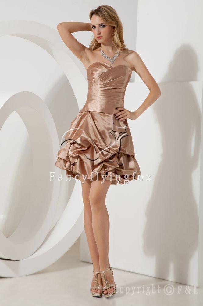 mini length champagne taffeta sweetheart a-line cocktail dress IMG-1917