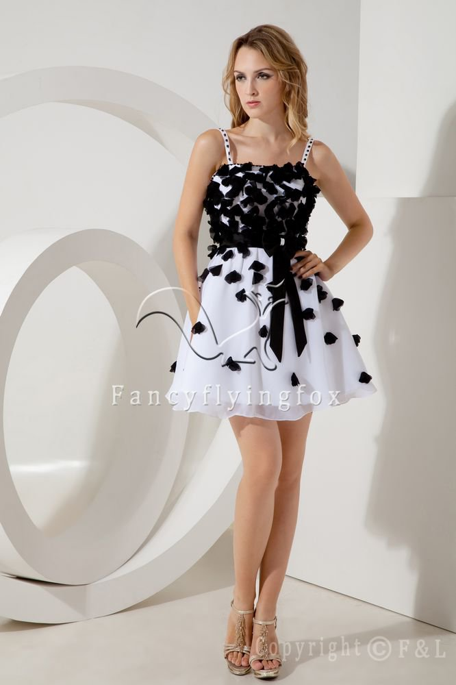 mini length white tulle straps a-line mini length homecoming dress IMG-2114