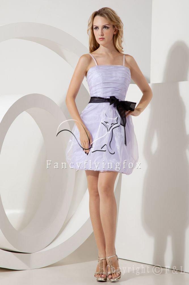 mini length lavender organza spaghetti straps a-line mini length cocktail dress IMG-2127