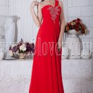 a-line floor length one shoulder red chiffon formal evening dress IMG-6857