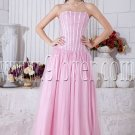 pink strapless neckline straight column floor length prom dress IMG-6900