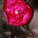 Pink Satin Circle Flower