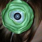 Green Satin Circle Flower