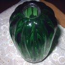 Unique Shaped Deep Emerald Green Decorative Art Glass Vase-Chatham Glass Co.-SIGNED