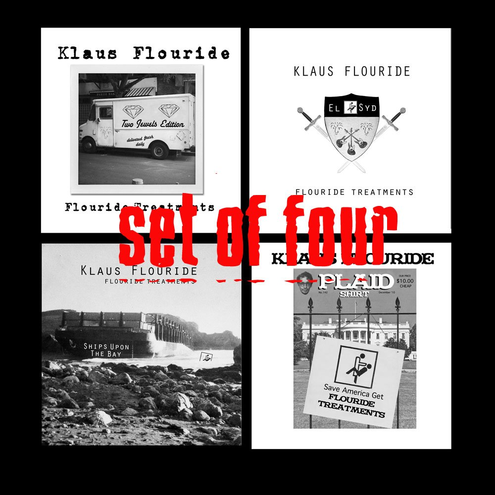 Set of (4) special limited edition CDs - autographed & numbered by Klaus Flouride (Dead Kennedys)