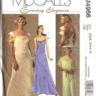 McCall's M4966 Evening Elegance Lined Dresses Size AAX: Misses' 4, 6, 8, 10