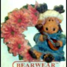 BRAND NEW BOYDS BEARS POINSETTIA WINTER BEAR PIN BEAR WEARABLES SO CUTE