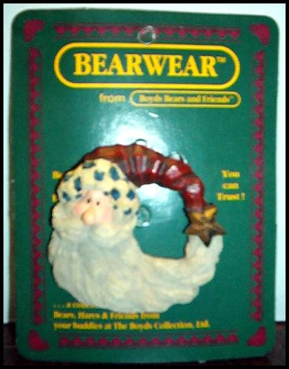 NIP BEARWEAR BOYDS BEARS WINTER'S NIGHT BEAR PIN 1995 ADORABLE HIGHLY COLLECTIBLE