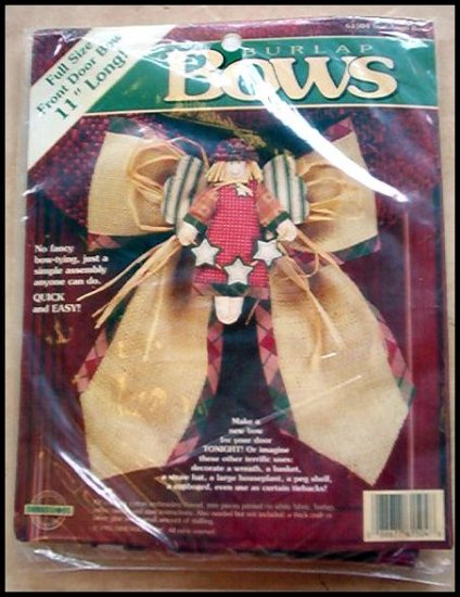 BRAND NEW BURLAP STAR ANGEL DOOR BOW KIT BY DIMENSIONS OUT OF PRINT HARD TO FIND