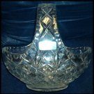 MINT GERMAN HANDCUT 24% LEAD CRYSTAL BASKET EXQUISITE