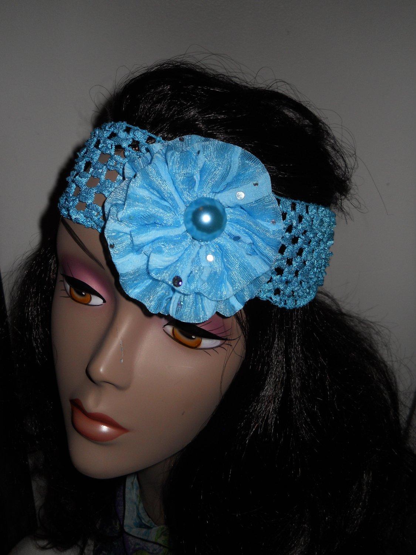 Baby Blue Mesh Headband