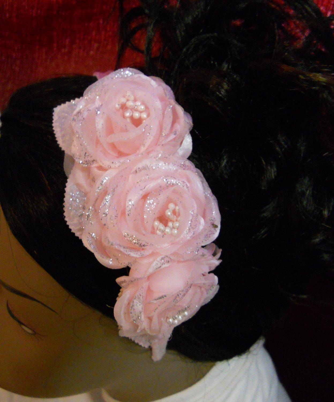 Flowergirl Pink Flower Headband