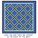 Double Irish Chain Quilt Pattern Chart Graph