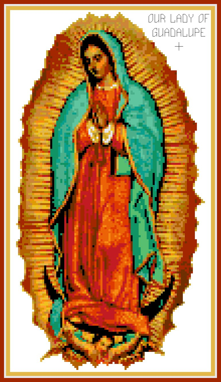Our Lady of Guadalupe Pattern Chart Graph