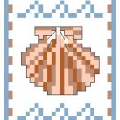 Shells and Waves Bookmark Pattern Chart Graph
