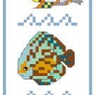 Tropical Fish Bookmark Pattern Chart Graph