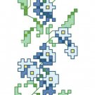 Forget-Me-Nots Bookmark Pattern Chart Graph