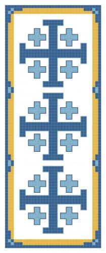 Jerusalem Cross Bookmark Pattern Chart Graph