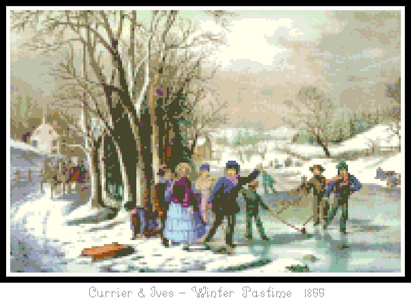 Winter Pastime 1855 Pattern Chart Graph