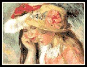 Renoir's Les Deux Soeurs (Two Sisters) Pattern Chart Graph