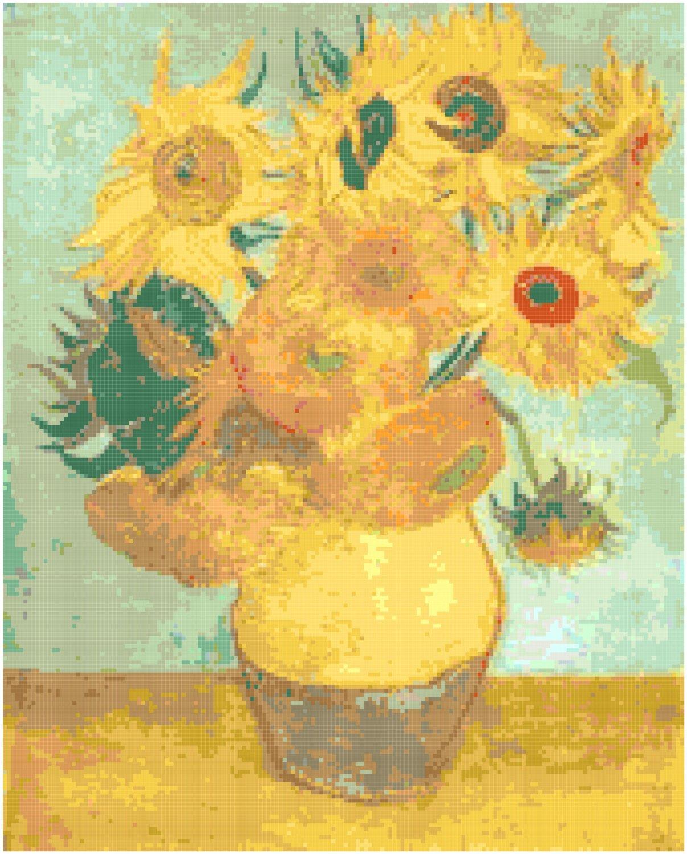 Van Gogh's Sunflowers Pattern Chart Graph