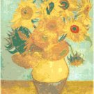 Van Gogh's Sunflowers Pattern Chart Graph