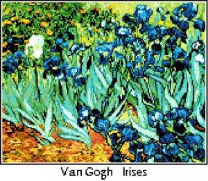 Van Gogh's Irises Pattern Chart Graph
