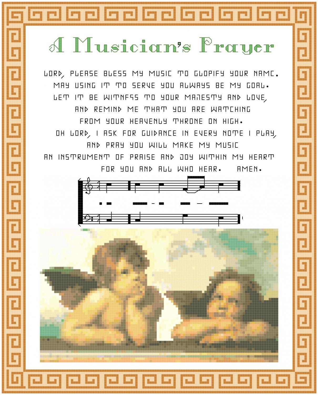 A Musician's Prayer Pattern Chart Graph