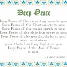 Deep Peace - A Gaelic Blessing Sampler Pattern Chart Graph