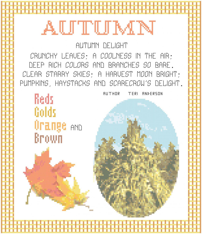 Autumn Pattern Chart Graph