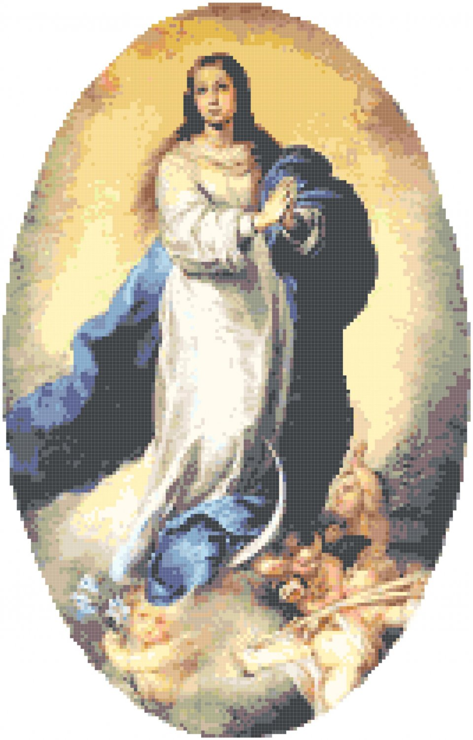 Immaculate Conception Pattern Chart Graph