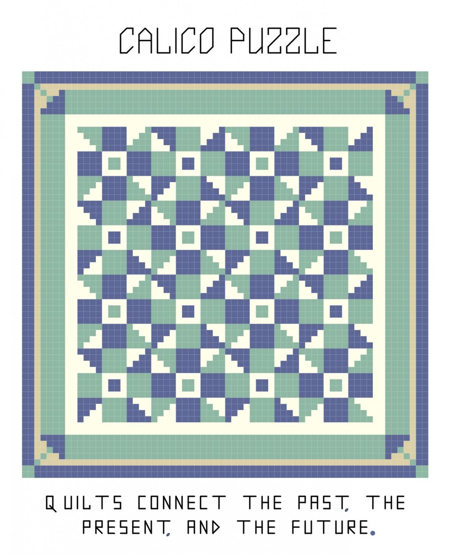 Calico Puzzle Quilt Pattern Chart Graph