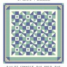 Calico Puzzle Quilt Pattern Chart Graph