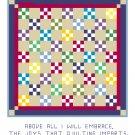 Double Nine Patch Quilt Pattern Chart Graph