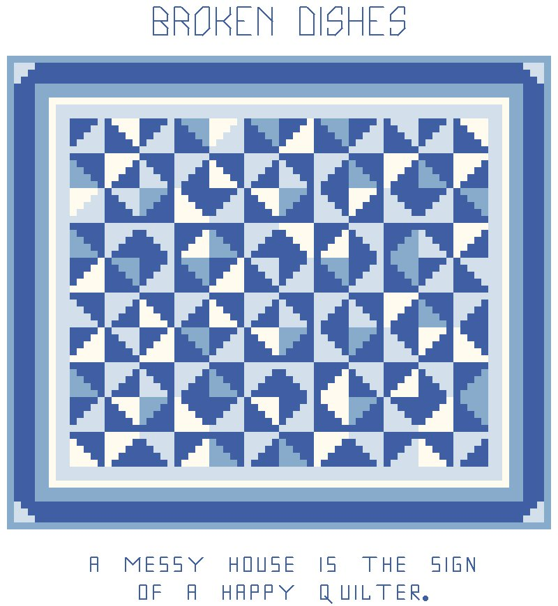 Broken Dishes Quilt Pattern Chart Graph