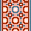 Nine Patch Contempo Quilt Pattern Chart Graph
