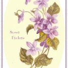 Sweet Violets Pattern Chart Graph