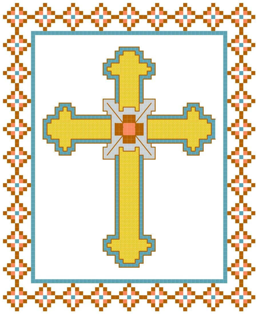 Spanish Cross Pattern Chart Graph
