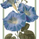 Heavenly Blue Morning Glories Pattern Chart Graph