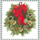 Red Bow Wreath Pattern Chart Graph