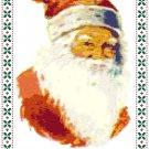 Santa's Portrait Pattern Chart Graph