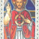 Blessed Heart of Jesus in Stained Glass Pattern Chart Graph