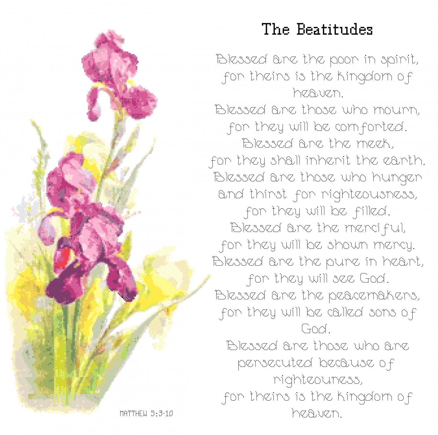 The Beatitudes Pattern Chart Graph