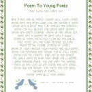 Poem To Young Poets Pattern Chart Graph