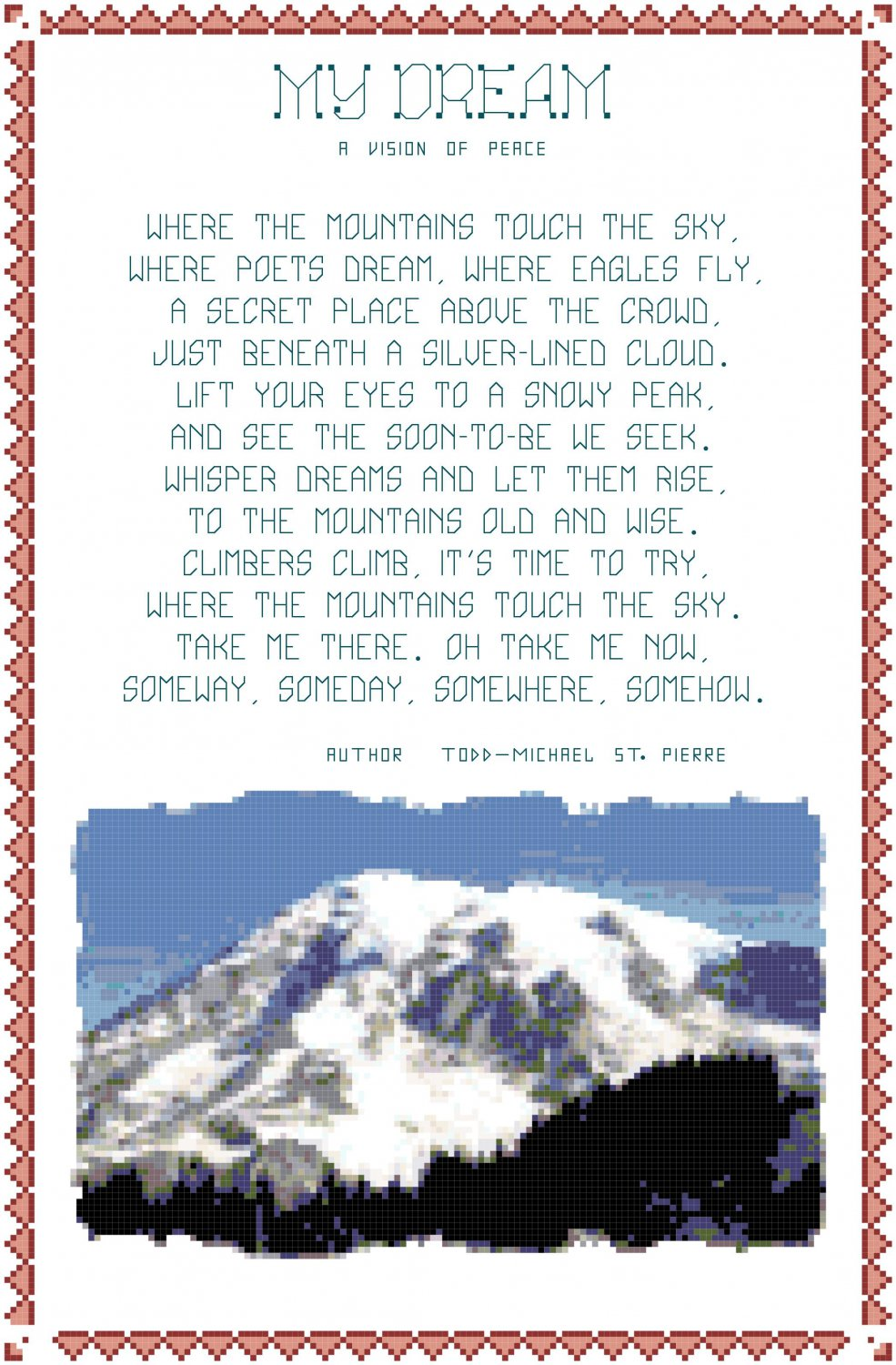 My Dream - The Mountains Pattern Chart Graph