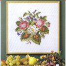 Antique Roses and Red Leaves Cross Stitch Chart Pack by Permin of Copenhagen