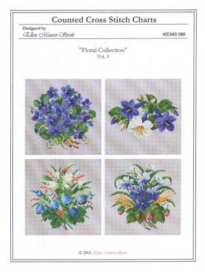 Floral Collection Vol. 3 Cross Stitch Chart Pack by Ellen Mauer-Stroh #EMS080