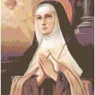 St. Teresa of Avila Cross Stitch Pattern Chart Graph