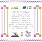 Monday's Child Sampler Cross Stitch Pattern Chart Graph