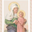 St. Anne and Young Mary Pattern Chart Graph